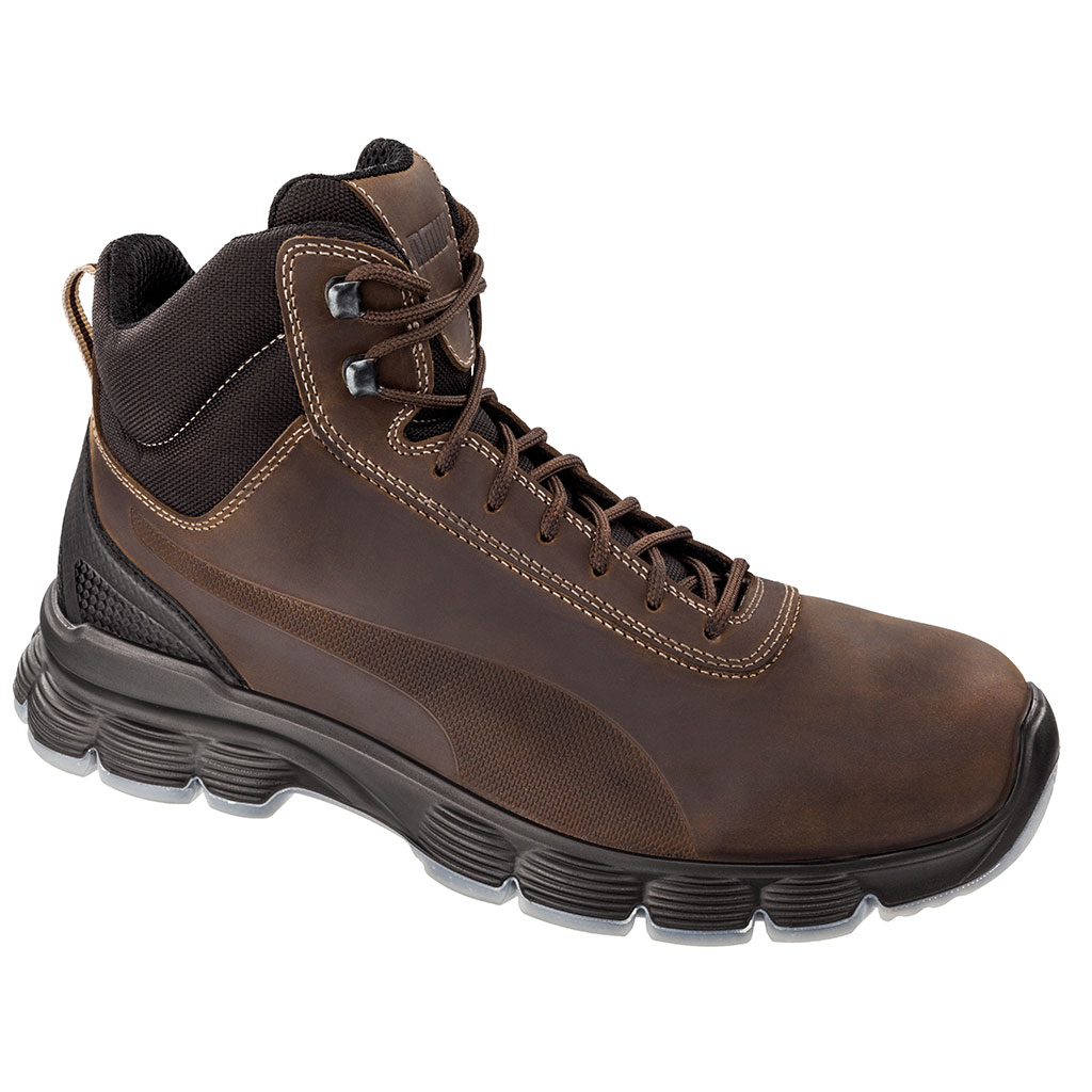 33036b821c5 Zoom Puma Safety Condor Mid Safety Boots S3 SRC ESD EN ISO 20345 brown