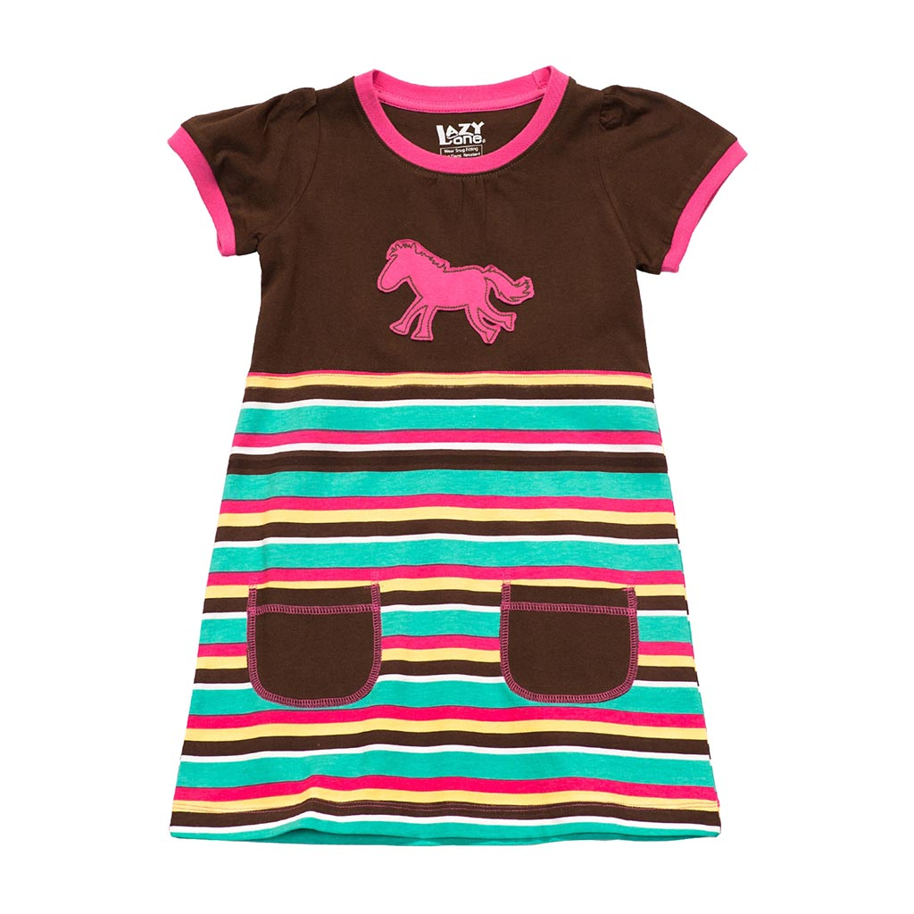 Cocktailjurk Kinderen.World Of Western Kinderen Jurk Horse Stripe 2