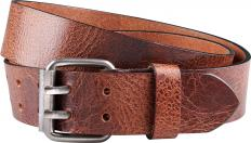 !?Double hook leather belt