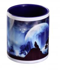 !?Wolf Cup Blue Howling