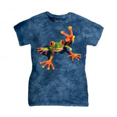 !?The Mountain T-shirt Victory Frog
