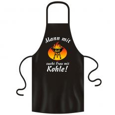 """!?Barbecue Apron """"Man with barbecue…"""""""