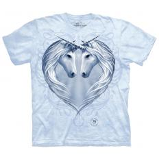 !?Damen T-Shirt Unicorn Heart