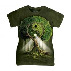 !?Ladies T-Shirt Yin Yang Tree