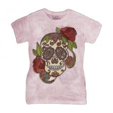 !?Ladies T-Shirt Paisley Sugar Skull