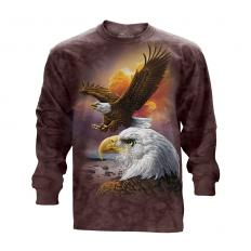 !?T-Shirt Manches Longues Eagle & Clouds