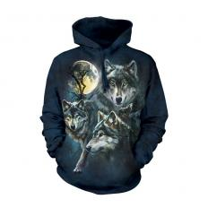 !?Hoodie Moon Wolves Collage