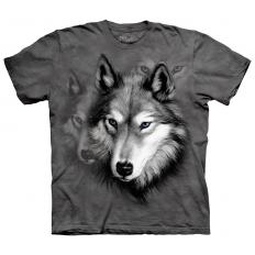 !?T-Shirt Wolf Portrait