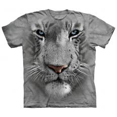 !?T-shirt White Tiger Face