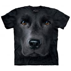 !?T-Shirt Black Lab Face