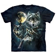 !?T-Shirt Moon Wolves Collage