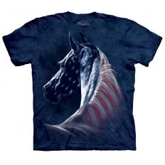 !?T-shirt Patriotic Horse Head