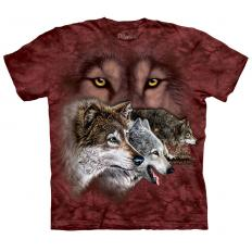 !?T-shirt Find 9 Wolves