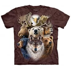 !?T-shirt Northern Wildlife Collage