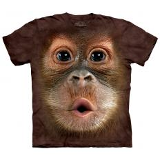 !?T-Shirt Big Face Baby Orangutan