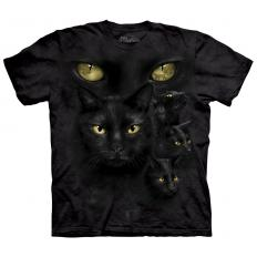 !?T-Shirt Black Cat Moon Eyes