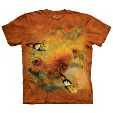 !?T-shirt Sunflower & Butterflies