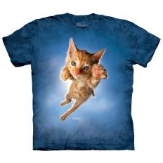 !?T-Shirt Pounce Peeps Cat