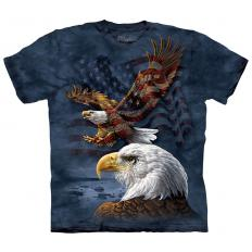 !?T-Shirt Eagle Flag Collage