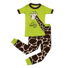 !?Kids PJ Set Short Sleeve Kids Giraffe Looong