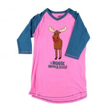 !?Ladies pyjamashirt Moose Kiss