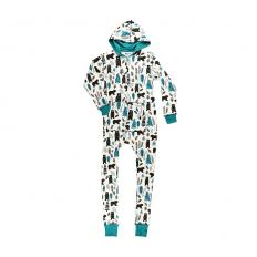 !?Women Hooded Onesies Woodland
