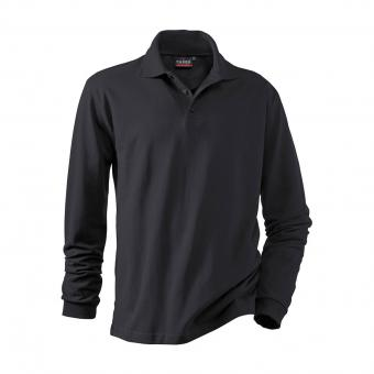 Hakro Performance Long-Sleeve Polo Shirt black | L
