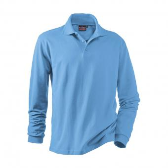 Hakro Performance Long-Sleeve Polo Shirt medium blue | L