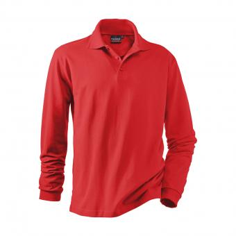 Hakro Performance Long-Sleeve Polo Shirt red | L