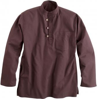 Nepal Chemise traditionnelle marron | M