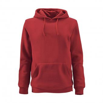 Sweat à capuche Krähe Basic rouge | S