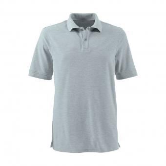 KRÄHE Basic Pique Polo Shirt grey melange | S