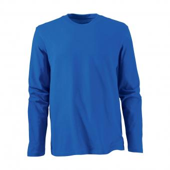 KRÄHE Basic Langarm-Shirt royal | S