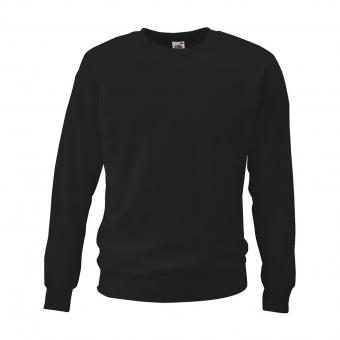 Fruit of the Loom Sweatshirt zwart | S