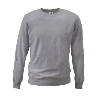 Fruit of the Loom Sweatshirt grau/melange | 3XL
