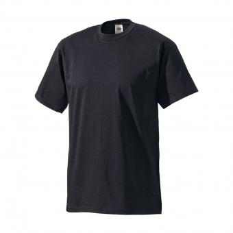 Fruit of the Loom T-Shirt schwarz | S