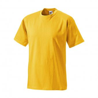 Fruit of the Loom T-Shirt gelb | S
