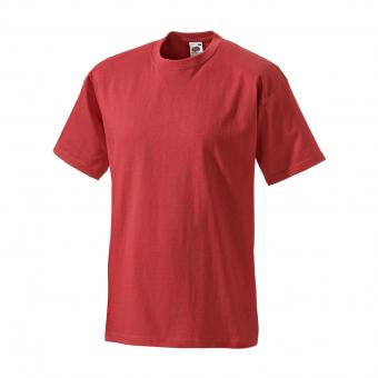 T-shirt Fruit of the Loom rouge | S