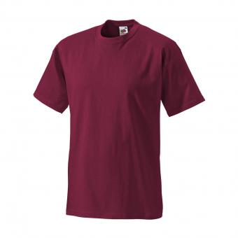 Fruit of the Loom T-Shirt bordeaux | XL