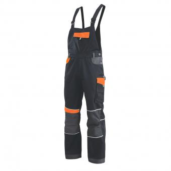 KRÄHE Performance Latzhose schwarz orange | 48