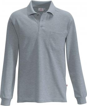 Hakro Pocket Polo Long Sleeve Shirt grey melange | L