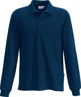 Hakro Pocket Polo Long Sleeve Shirt marine | L