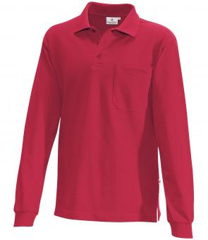 Hakro Pocket Polo Long Sleeve Shirt red | L