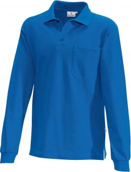 Hakro Pocket Polo-Langarmshirt royal | XL