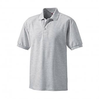 Fruit of the Loom Polo-Shirt grau/melange | XL