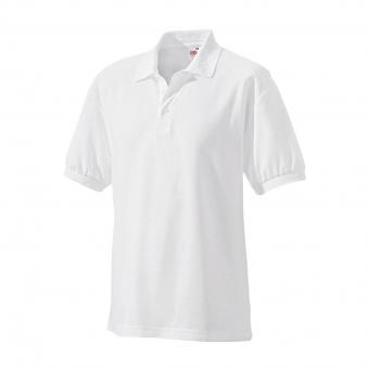 Fruit of the Loom Poloshirt wit | L