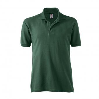 Fruit of the Loom Polo-Shirt grün | XL