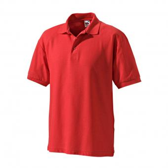Fruit of the Loom Poloshirt rood | L