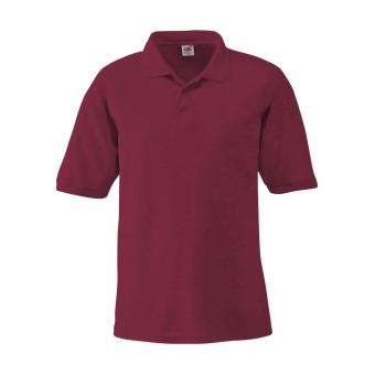 Fruit of the Loom Polo-Shirt bordeaux | XXL