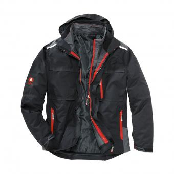 KRÄHE 3-in-1 Functional Jacket black | 3XL